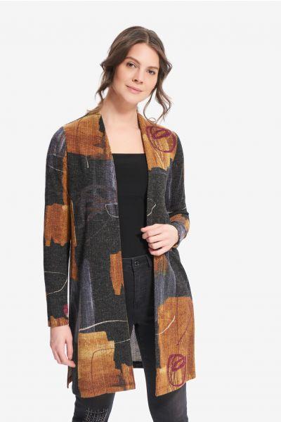 Joseph Ribkoff Black/Multi Cover-Up Style 214190