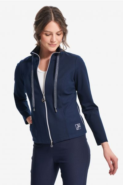 Joseph Ribkoff Midnight Blue Sporty Jacket Style 214193