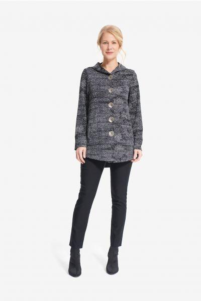 Joseph Ribkoff Black/Silver/Grey Knit Jacket Style 214244