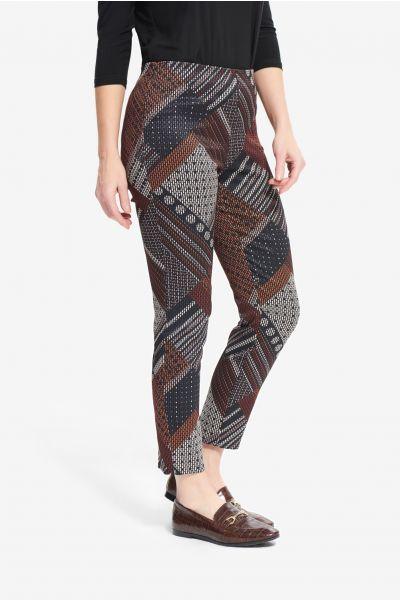 Joseph Ribkoff Black/Multi Geometric Pants Style 214257