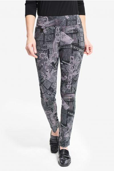 Joseph Ribkoff Black/Grey Pants Style 214275