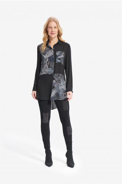 Joseph Ribkoff Black/Grey Blouse Style 214277