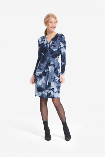 Joseph Ribkoff Blue/Multi Floral Print Dress Style 214292