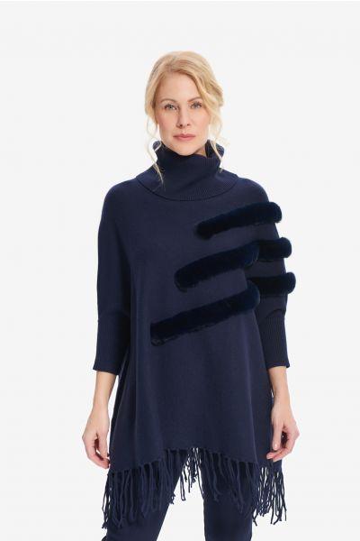 Joseph Ribkoff Midnight Blue Cover-Up Style 214916 - Main Image 1