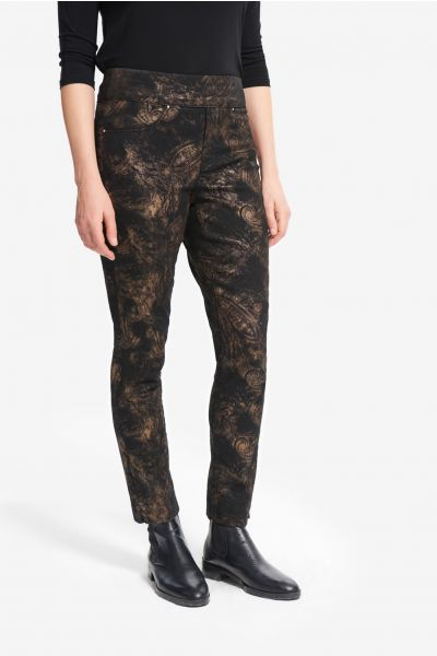 Joseph Ribkoff Black/Bronze Pants Style 214938