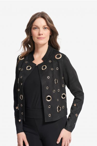 Joseph Ribkoff Black/Gold Jacket Style 214943 - Main Image 1