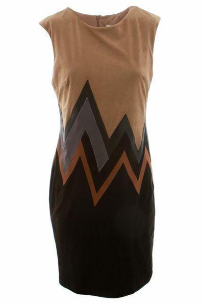 Joseph Ribkoff Beige/Black/Cognac/Silver Dress Style 164445
