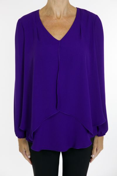 Joseph Ribkoff Purple Top Style 163292