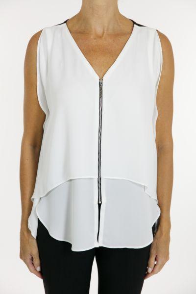 Joseph Ribkoff White/Black Tunic Style 162294