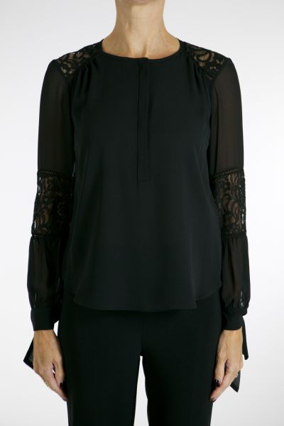 Joseph Ribkoff Black Blouse Style 164560