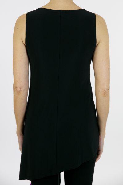 Joseph Ribkoff Tunic Black/Fuchia Style 163057